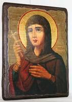 Евдокия, Св.Муч, икона под старину, сургуч (13 Х 17)