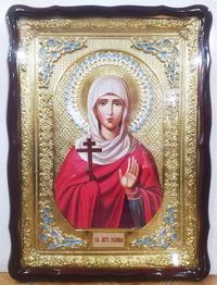 Галина, Св. муч., в фигурном киоте, с багетом. Храмовая икона (60 Х 80)