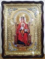 Державная Б.М., в фигурном киоте, с багетом. Храмовая икона (60 Х 80)