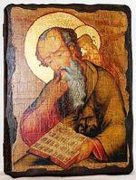 Иоанн Богослов, икона под старину, сургуч (13 Х 17)