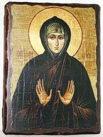Кира Берийская, Св.Муч, икона под старину, сургуч (13 Х 17)