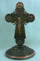 Крест настольный металлический (129)