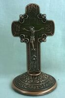 Крест настольный металлический (152)