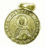 Образок нательный литой (70) Св.Муч. Юлия, цвет золото
