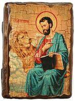 Апостол Марк, икона под старину, сургуч (13 Х 17)