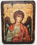 Архангел Михаил (пояс), икона под старину, сургуч (13 Х 17)