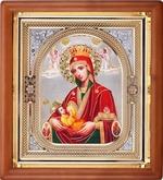 Аналойная икона в ризе Млекопитательница Божья Матерь, упаковка, (23 Х 26)