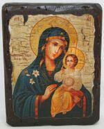 Неувядаемый Цвет Б.М., икона под старину, сургуч (13 Х 17)