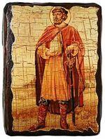 Ростислав, Св.Муч, икона под старину, сургуч (13 Х 17)