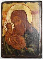 Симеон Богоприимец, икона под старину, сургуч (17 Х 23)