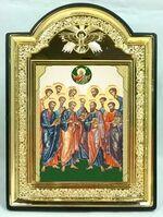 """Собор 12 апостолов, икона пластиковая большая """"Голубь"""" (Пл-08-220)"""