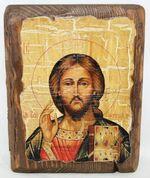 Спаситель, икона под старину, сургуч (13 Х 17)