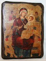 Всецарица Б.М., икона под старину, сургуч (13 Х 17)