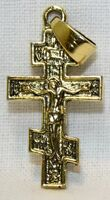 Крест нательный металл (1-01) литой цвет золото чернение