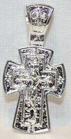 Крест нательный металл (1-35) литой цвет серебро