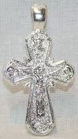 Крест нательный металл (1-42) литой цвет серебро