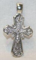 Крест нательный металл (1-19) литой цвет серебро чернение