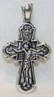 Крест нательный металл (1-20) литой цвет серебро чернение