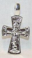 Крест нательный металл (1-37) литой цвет серебро