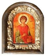 Пантелеймон. Икона Иерусалимская арочная