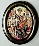 Всецарица Б.М. Икона настольная малая, зол. кант, овал. (50 Х 65)