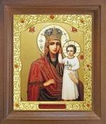 Призри на смирение Б.М. Икона в деревянной рамке с окладом (Д-26псо-145)