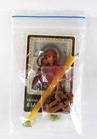 Владимирская Б.М. Набор для домашней молитвы (Zip-Lock). Лик, молитва, свечка, ладан, крестик