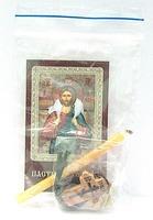 Пастырь Добрый. Набор для домашней молитвы (Zip-Lock). Лик, молитва, свечка, ладан, крестик
