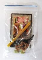 Благовещение Б.М. Набор для домашней молитвы (Zip-Lock). Лик, молитва, свечка, ладан, крестик