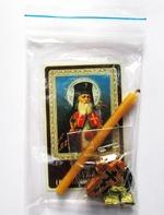 Лука Крымский. Набор для домашней молитвы (Zip-Lock). Лик, молитва, свечка, ладан, крестик