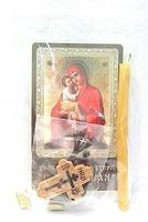 Почаевская Б.М.  Набор для домашней молитвы (Zip-Lock). Лик, молитва, свечка, ладан, крестик