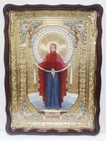 Покров Б.М. (рост), в фигурном киоте, с багетом. Храмовая икона (60 Х 80)
