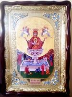 Живоносный источник Б.М., в фигурном киоте, с багетом. Храмовая икона (60 Х 80)
