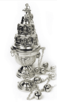 Кадило в форме церкви серебр.