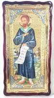 Симеон Верхотурский, в фигурном киоте, с багетом. Храмовая икона (61 Х 112)
