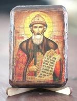 Владимир, Св.Князь, икона под старину, сургуч (8 Х 10)