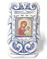 Казанская Б.М., керамика, икона малая, цвет шамот (СА).