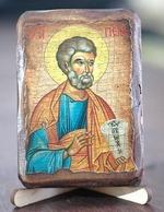 Апостол Петр, икона под старину, сургуч (8 Х 10)