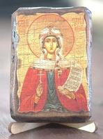 Дарья, Св.Муч., икона под старину, сургуч (8 Х 10)