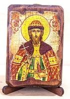 Игорь Черниговский, Св.Вел.Князь, икона под старину, сургуч (8 Х 10)