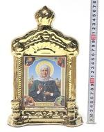 Матрона Московская, керамика, икона купол большая, цвет золото (СА).