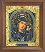 Казанская Б.М. Икона в деревянной рамке с окладом (Д-25псо-10)