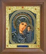 Казанская Б.М. Икона в деревянной рамке с окладом (Д-26псо-10)