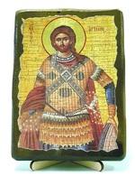 Артемий, икона под старину, на дереве (13х17)