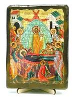 Успение Пр.Б., икона под старину, на дереве (13х17)