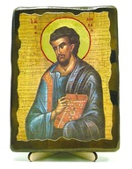Евангелист Лука, икона под старину, на дереве (13х17)