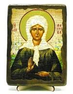 Матрона Московская, икона под старину, на дереве (13х17)