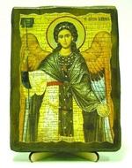 Архангел Гавриил (пояс), икона под старину, на дереве (13х17)