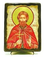Леонид, Св.Муч, икона под старину, на дереве (13х17)