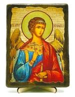 Ангел Хранитель, икона под старину, на дереве (13х17)